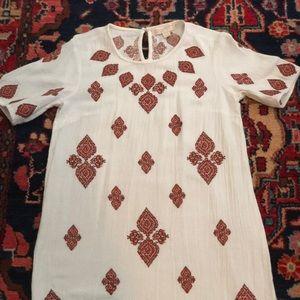 Michael Kors Embroidered Muslin Dress